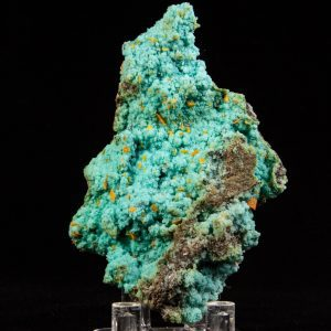 Wulfenite on Chrysocolla