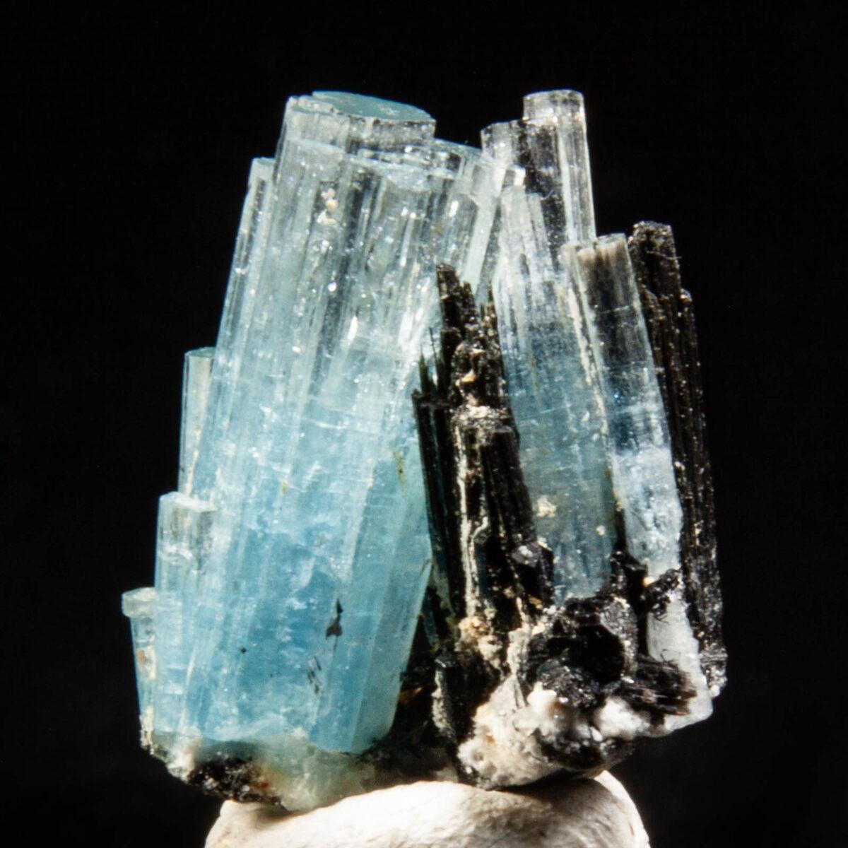 Aquamarine (Beryl) w/ Schorl