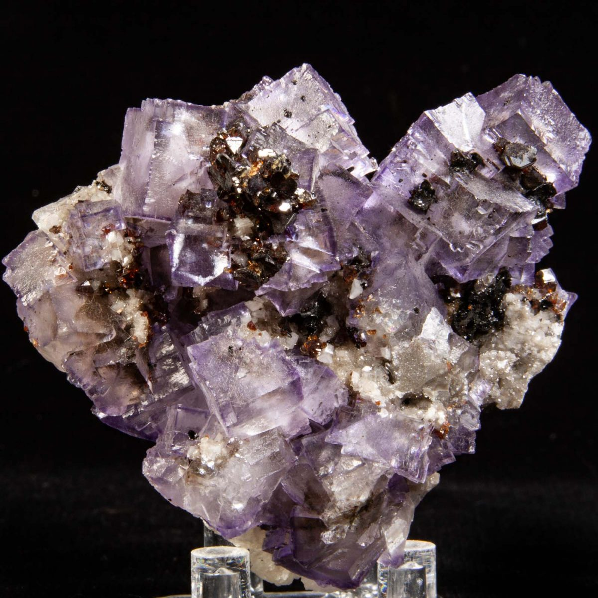 Fluorite with Sphalerite and Barite