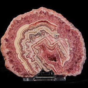 Rhodochrosite Stalactite Slice (Polished)